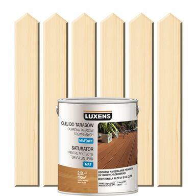Olej do tarasów SATURATOR 2.5 l Bezbarwny Matowy LUXENS