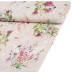 Tkanina bawełniana na mb ARTEMISA beżowa w kwiaty szer. 140 cm