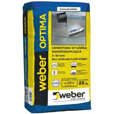 Cementowa wylewka samopoziomująca OPTIMA 2 - 30 mm 25 kg WEBER