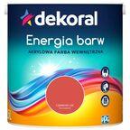 Farba Dekoral Energia barw Czerwony Liść 2.5 l