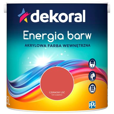 Farba wewnętrzna ENERGIA BARW 2.5 l Czerwony Liść DEKORAL