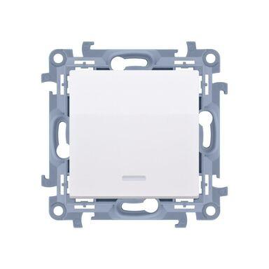 Włącznik pojedynczy Z PODŚWIETLENIEM SIMON 10  Biały  SIMON
