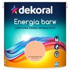 Farba wewnętrzna ENERGIA BARW 2.5 l Mus Brzoskwiniowy DEKORAL