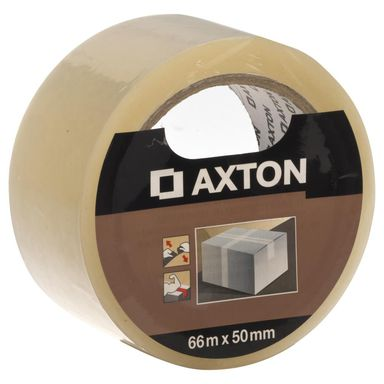 Taśma do pakowania 50 mm x 66 m bezbarwna AXTON