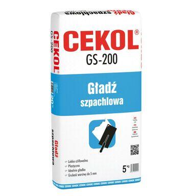 Gładź szpachlowa GS-200 5 kg CEKOL