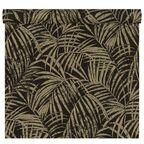 Tapeta w liście Palm czarno-złota winylowa na flizelinie