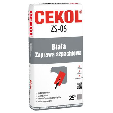 Zaprawa szpachlowa ZS-06 25 kg CEKOL