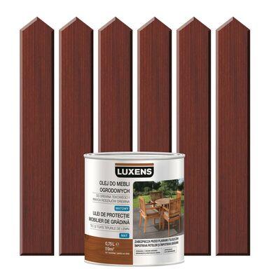 Olej do mebli ogrodowych 0.75 l Mahoń LUXENS