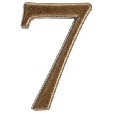 Cyfra 7 wys. 5 cm metalowa brązowa