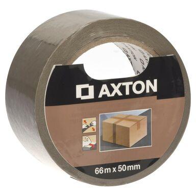 Taśma do pakowania 50 mm x 66 m brązowa AXTON