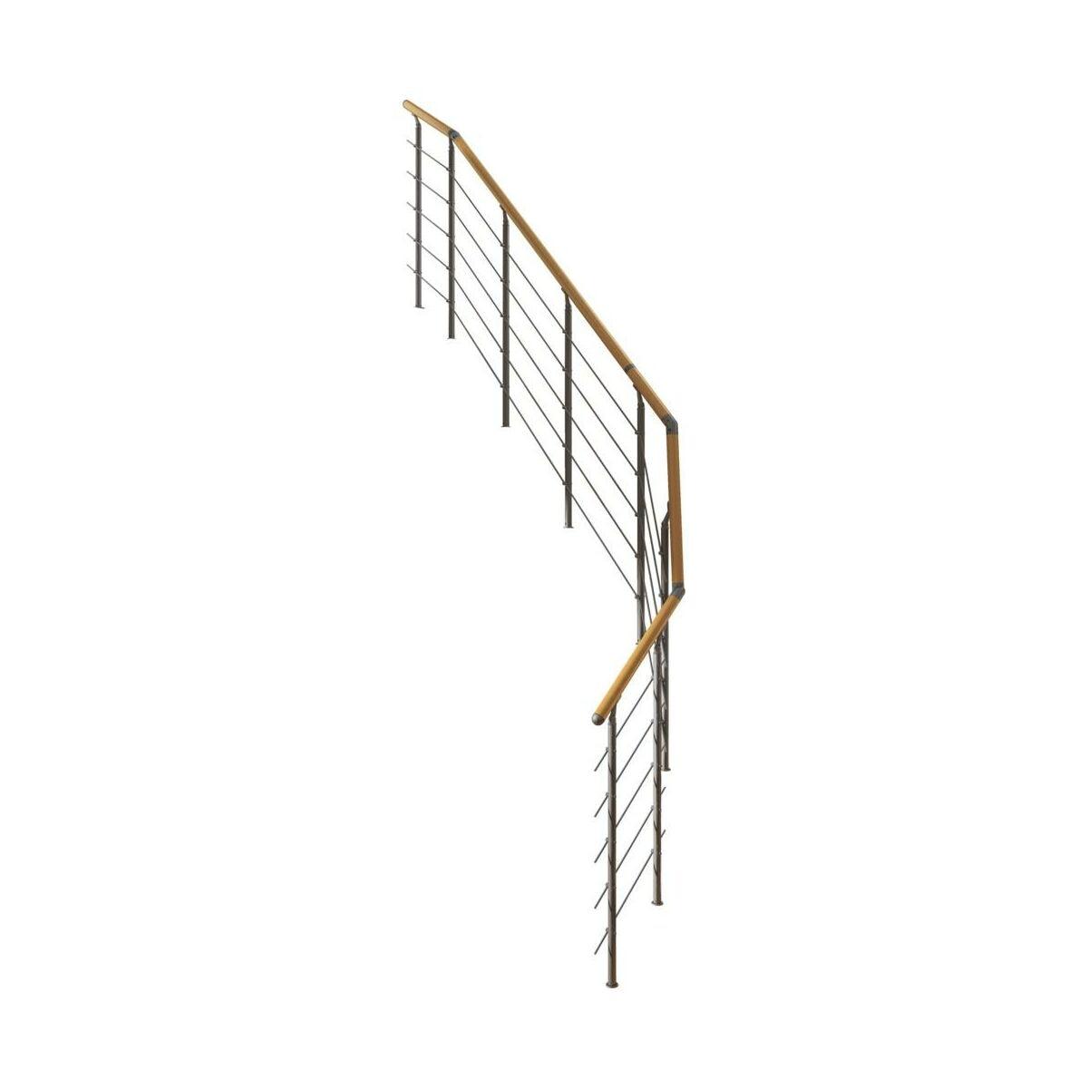 Balustrada Do Schodow Zabiegowych Frankfurt Nierdzewna Dolle Balustrady Drewniane I Metalowe W Atrakcyjnej Cenie W Sklepach Leroy Merlin