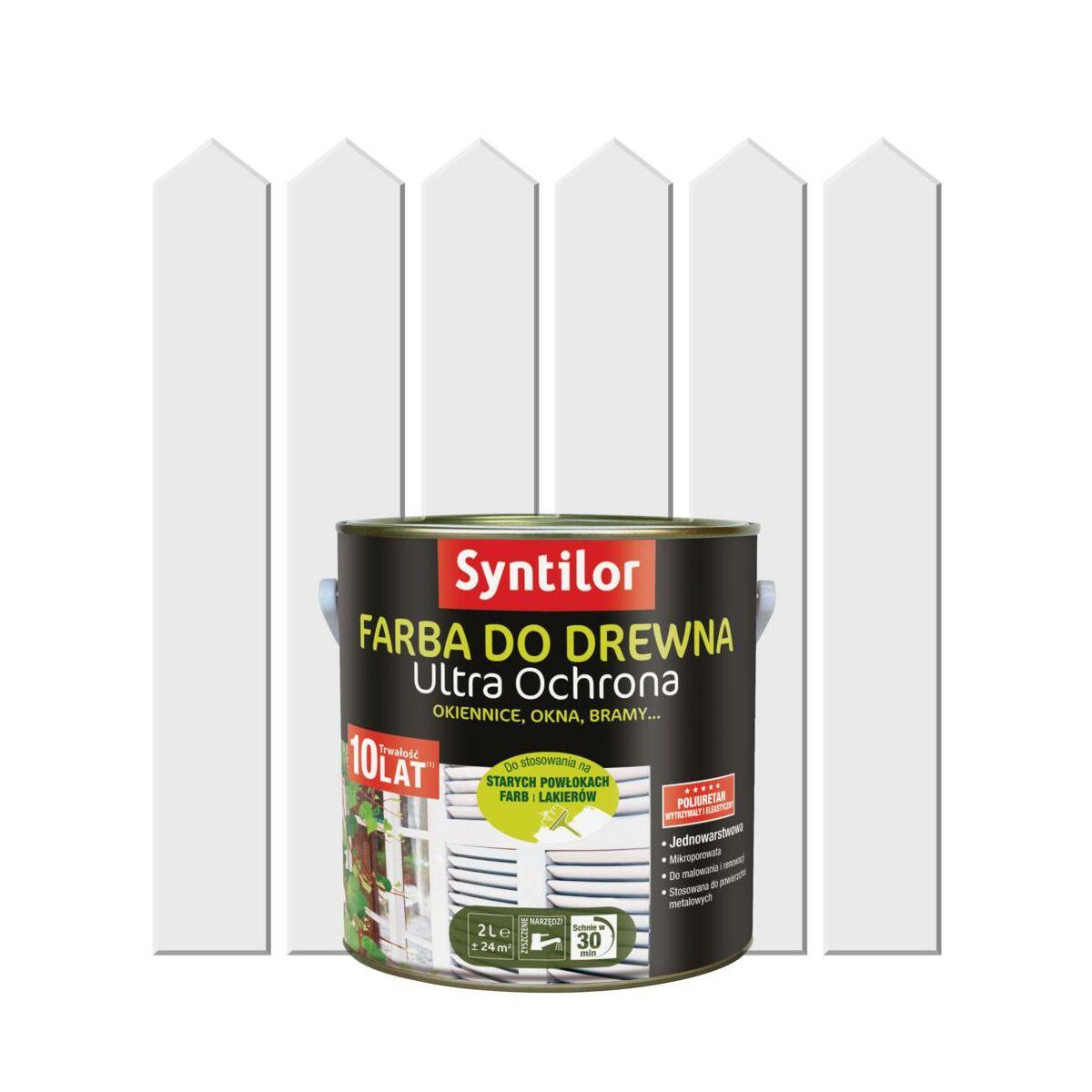 Farba Do Drewna Ultra Ochrona 2 L Bialy Syntilor Farby Do Drewna I Mebli W Atrakcyjnej Cenie W Sklepach Leroy Merlin