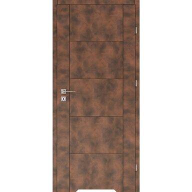 Skrzydło drzwiowe z podcięciem wentylacyjnym DUAL Miedź 60 Prawe VOSTER