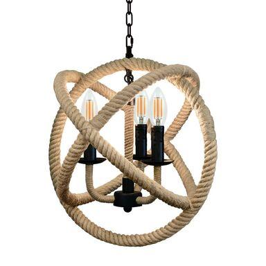 Lampa wisząca Rope Globo brązowa E14 Il Mio