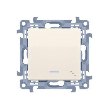 Włącznik schodowy z podświetleniem SIMON 10  kremowy  SIMON