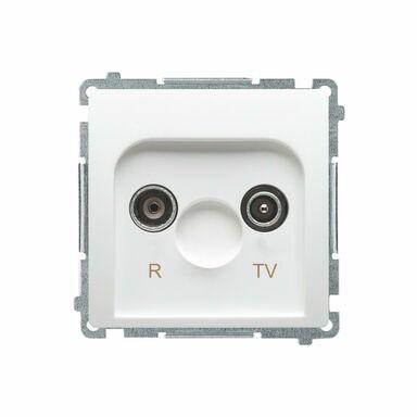 Gniazdo RTV PRZELOTOWE BASIC  Biały  KONTAKT SIMON