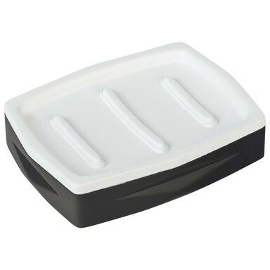 Mydelniczka CARBON kolor czarny/biały SEPIO