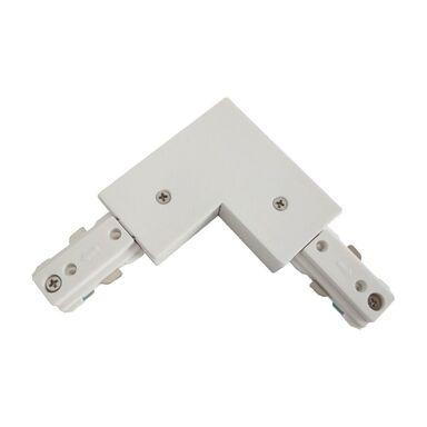 Łącznik L do systemów szynowych biały LIGHT PRESTIGE