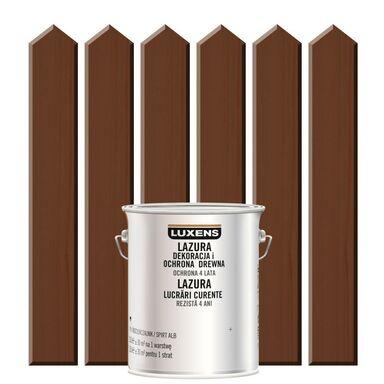 Lazura do drewna DEKORACJA I OCHRONA DREWNA 2.5 l  Palisander LUXENS
