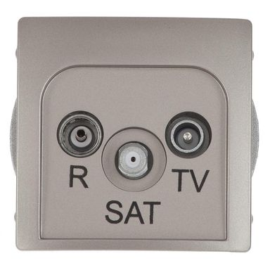Gniazdo RTV / SAT końcowe BASIC  satyna  KONTAKT SIMON