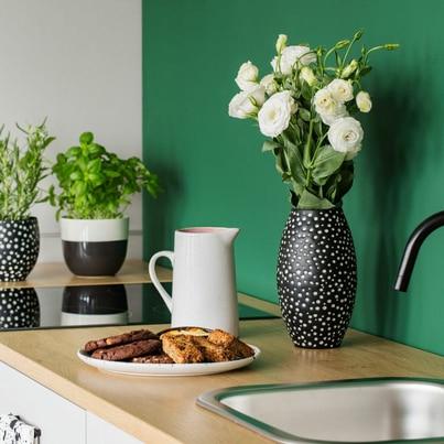 Stylowa zielona kuchnia