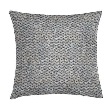 Poduszka imitacja swetra szara 45 x 45 cm