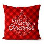 Poduszka świąteczna Merry Christmas czerwona 45 x 45 cm