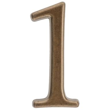 Cyfra 1 wys. 5 cm metalowa brązowa
