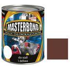 Emalia chlorokauczukowa 0.8 l Brązowy do stali i żeliwa MASTERBOND