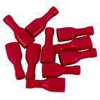 Konektor izolowany żeński 6.3 mm 10 szt. Czerwony HBF