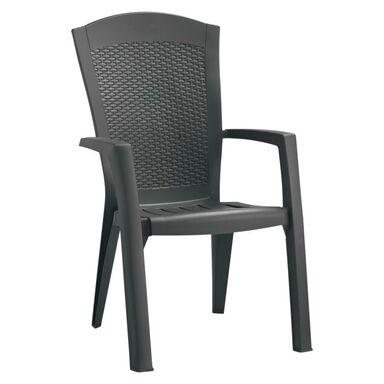 Fotel ogrodowy MINNESOTA plastikowy antracytowy