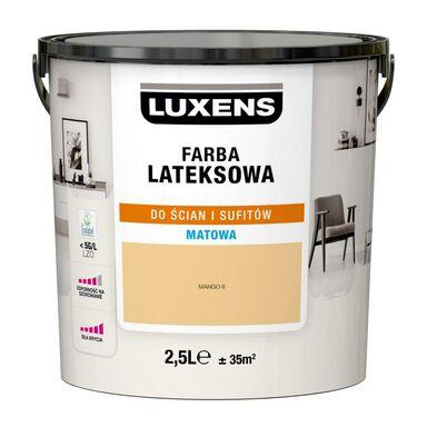 Farba wewnętrzna LATEKSOWA 2.5 l Mango 6 LUXENS