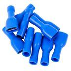 Konektor izolowany żeński 6.3 mm 10 szt. Niebieski HBF