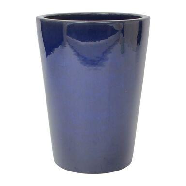 Donica ceramiczna 42 cm niebieska