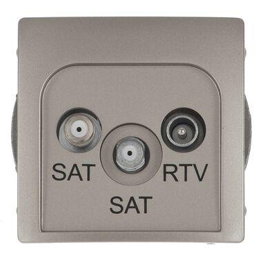 Gniazdo podwójne RTV/SAT końcowe BASIC Srebrny KONTAKT SIMON