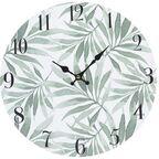 Zegar ścienny w liście śr. 30 cm zielony