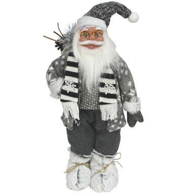 Mikołaj w sweterku stojący 45 cm 1 szt. szary