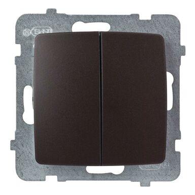 Włącznik podwójny KARO  czekoladowy  OSPEL