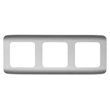 Ramka potrójna COSY  aluminium  LEXMAN