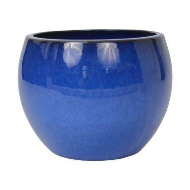 Donica ceramiczna 48 cm niebieska