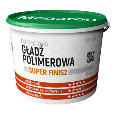 Gotowa gładź polimerowa SUPER FINISZ DV-20 MEGARON