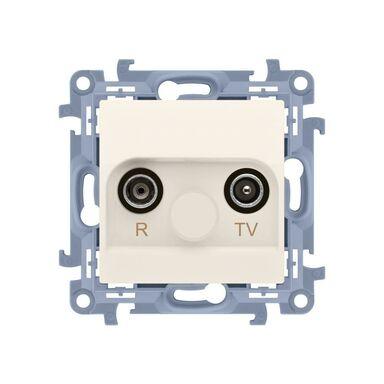 Gniazdo antenowe R - TV końcowe separowane SIMON 10  krem  KONTAKT SIMON