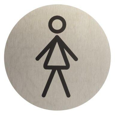 Znak informacyjny WC DAMSKIE 7.5 x 7.5 cm
