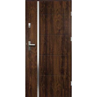Drzwi zewnętrzne stalowe antywłamaniowe RC2 Iris orzech 80 prawe Radex
