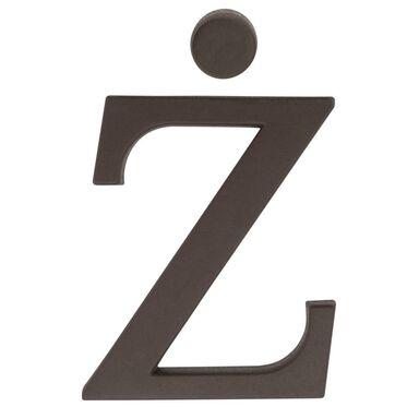 Litera Ż wys. 9 cm PVC brązowa