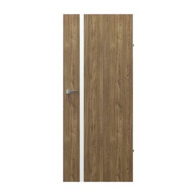 Skrzydło drzwiowe pełne bezprzylgowe Focus 4A Orzech naturalny 60 Prawe Porta