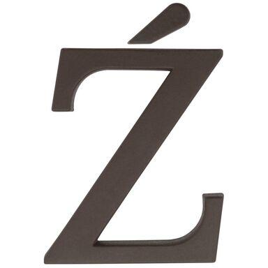 Litera Ź wys. 9 cm PVC brązowa
