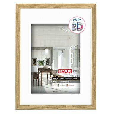 Ramka na zdjęcia EFEKT 3D 15 x 21 cm dąb drewniana