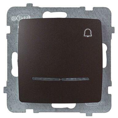 Przycisk dzwonek podświetlany KARO  czekoladowy  OSPEL