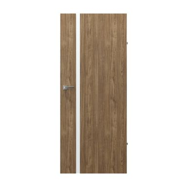 Skrzydło drzwiowe pełne bezprzylgowe Focus 4A Orzech naturalny 80 Prawe Porta